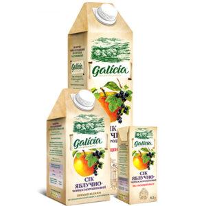 Сік Galicia яблучно-чорносмородиновий 1л