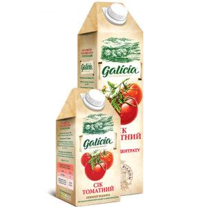 Сік Galicia томатний з сіллю 1л