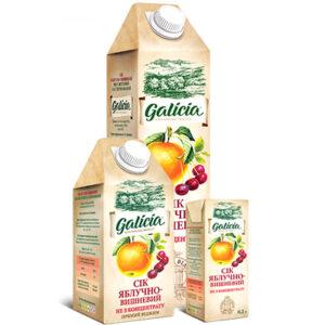 Сік Galicia яблучно-вишневий 1л
